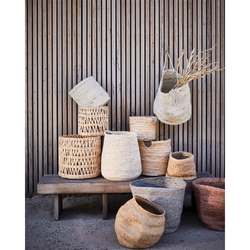 Urban Nature Culture-collectie Storage Basket With Handle Jute, Blond