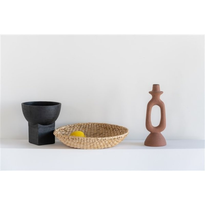 Urban Nature Culture-collectie Bowl On Foot Smoked Wood