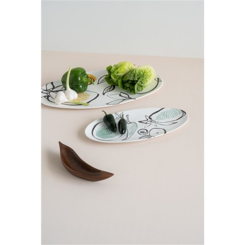 Urban Nature Culture-collectie Serving Tray Fruits & Veggies, Green Eyes