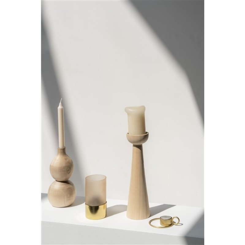 Urban Nature Culture-collectie Tealight Holder In Giftpack, Cameo Brown Frosted