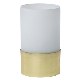 Urban Nature Culture Tealight Holder In Giftpack, White Frosted