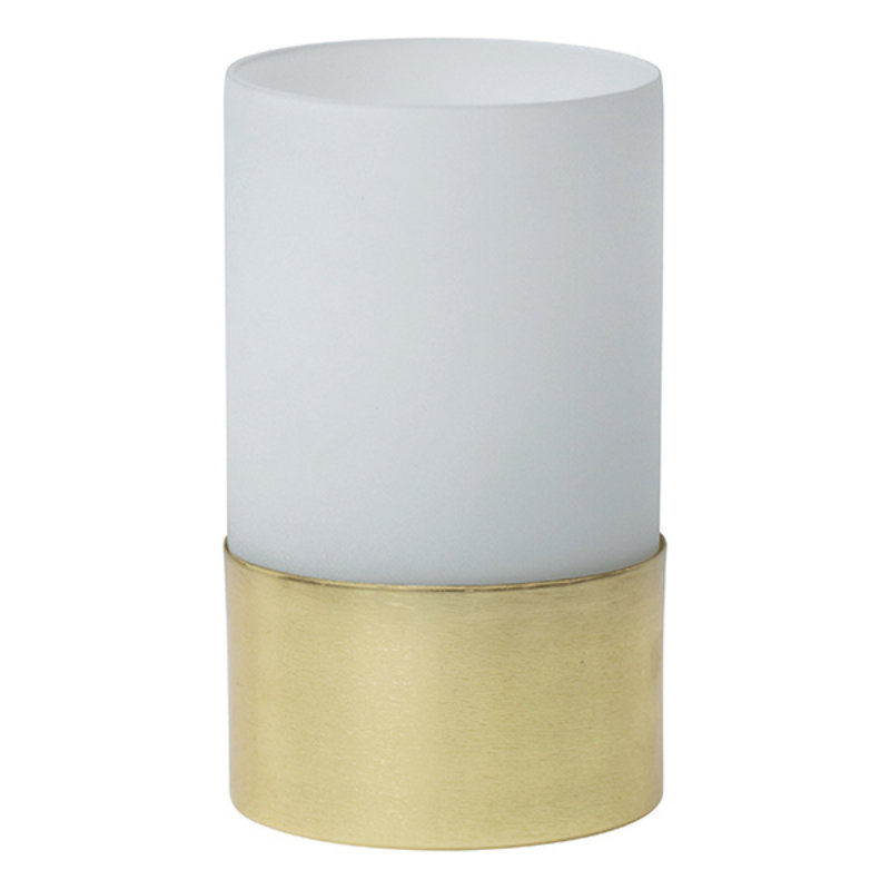 Urban Nature Culture-collectie Tealight Holder In Giftpack, White Frosted