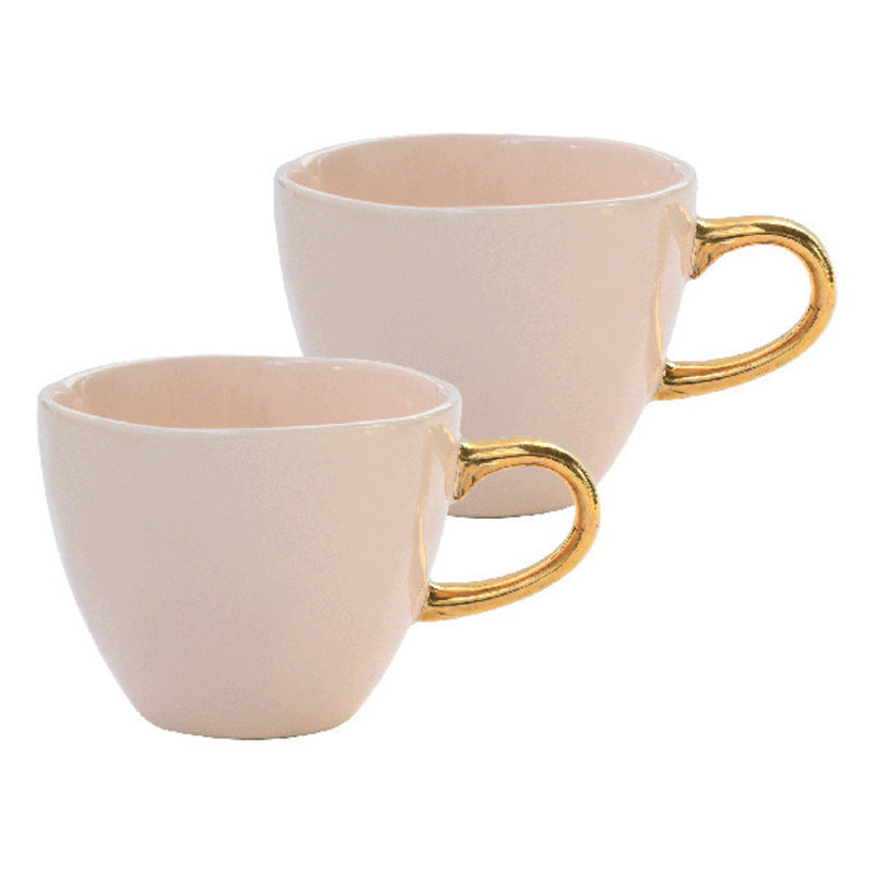 Urban Nature Culture-collectie Good Morning Cup Mini S/2 In Giftpack, Old Pink