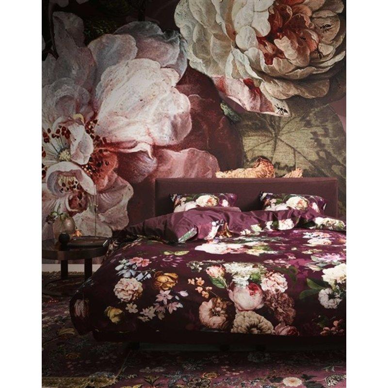 Essenza-collectie Dekbedovertrek Fleur Wijnrood