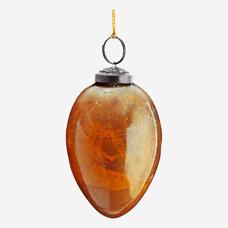 Madam Stoltz-collectie Paasdecoratie glazen ei L mosterd, geel