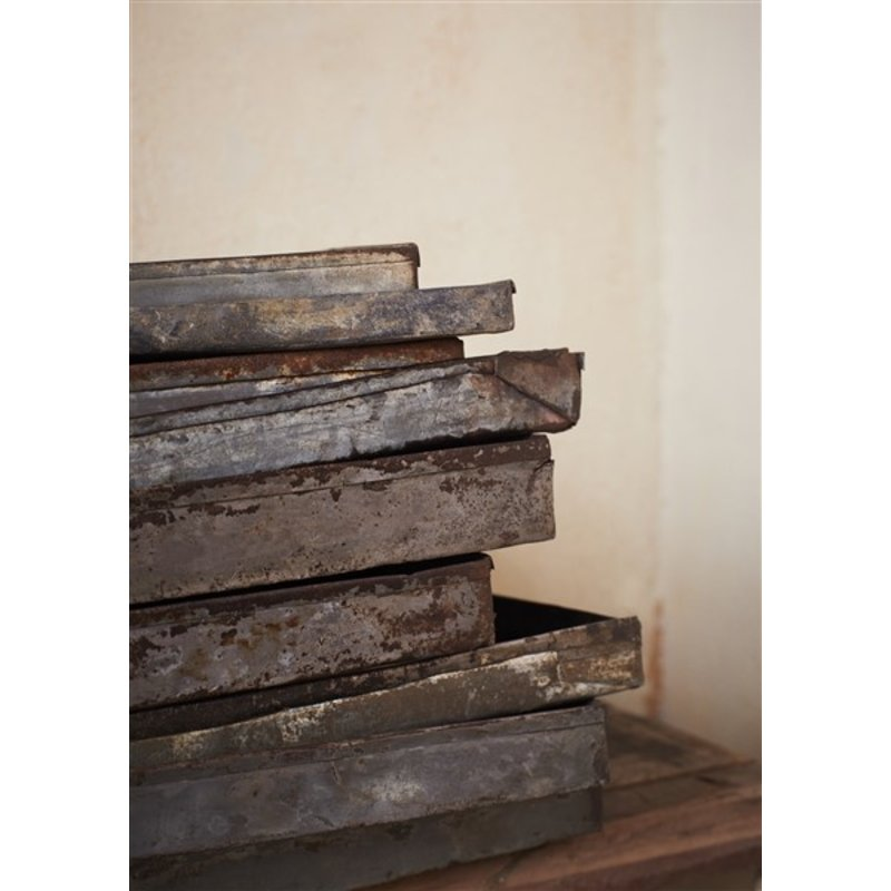 Madam Stoltz-collectie Recycled rectangular iron tray