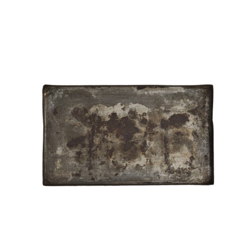 Madam Stoltz-collectie Ijzer gerecycled dienblad rechthoek