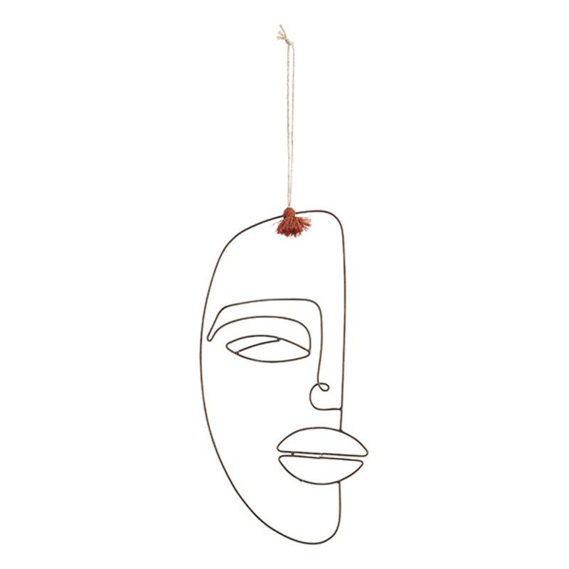 Madam Stoltz-collectie Decoratieve hanger gezicht