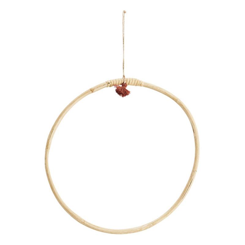 Madam Stoltz-collectie Ronde hanger bamboe S