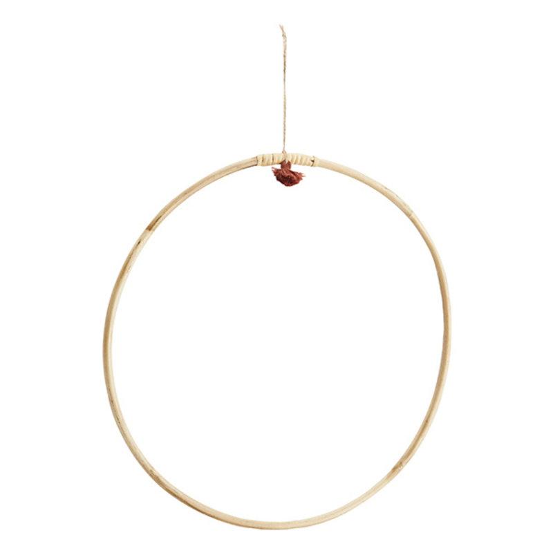 Madam Stoltz-collectie Ronde hanger bamboe L