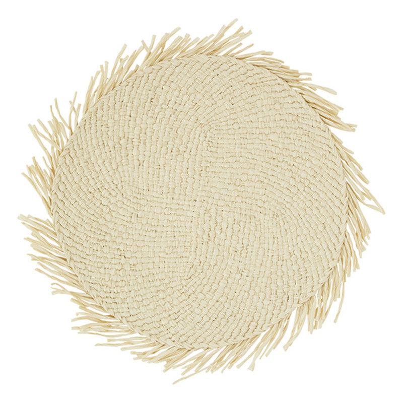 Madam Stoltz-collectie Ronde placemat gevlochten touw