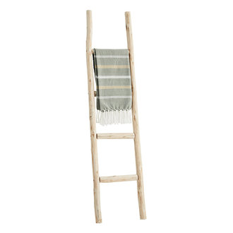 Madam Stoltz Wooden ladder Natural 37x4x150 cm