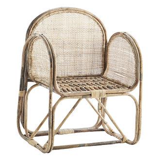 Madam Stoltz Bamboe stoel met cane webbing