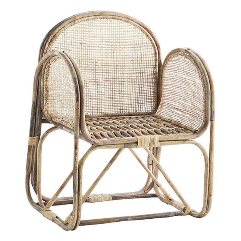 Madam Stoltz-collectie Bamboo chair w/ cane  Natural  60x62x84 cm