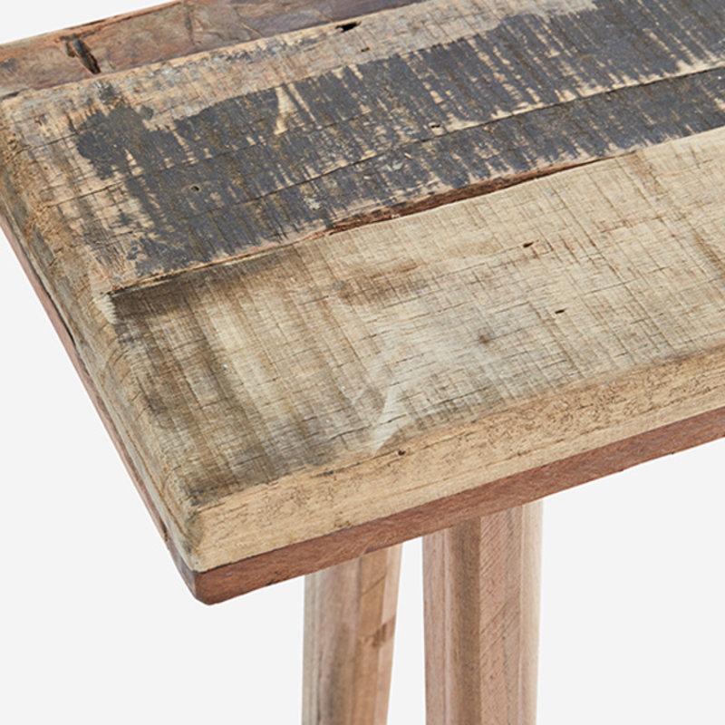 Madam Stoltz-collectie Wooden console table Natural 105x25x70 cm