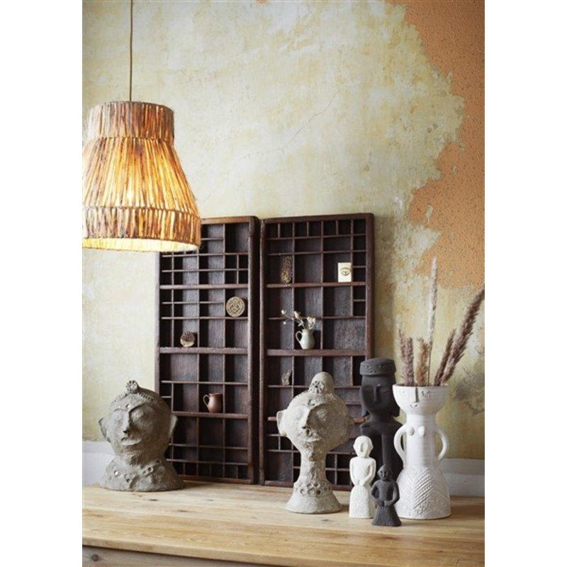 Madam Stoltz-collectie Jute ceiling lamp Natural D:37x38 cm
