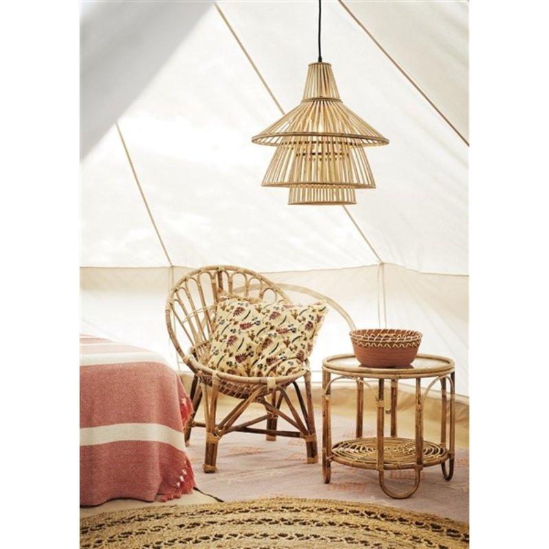 Madam Stoltz-collectie Round jute braided rug Natural D:180 cm