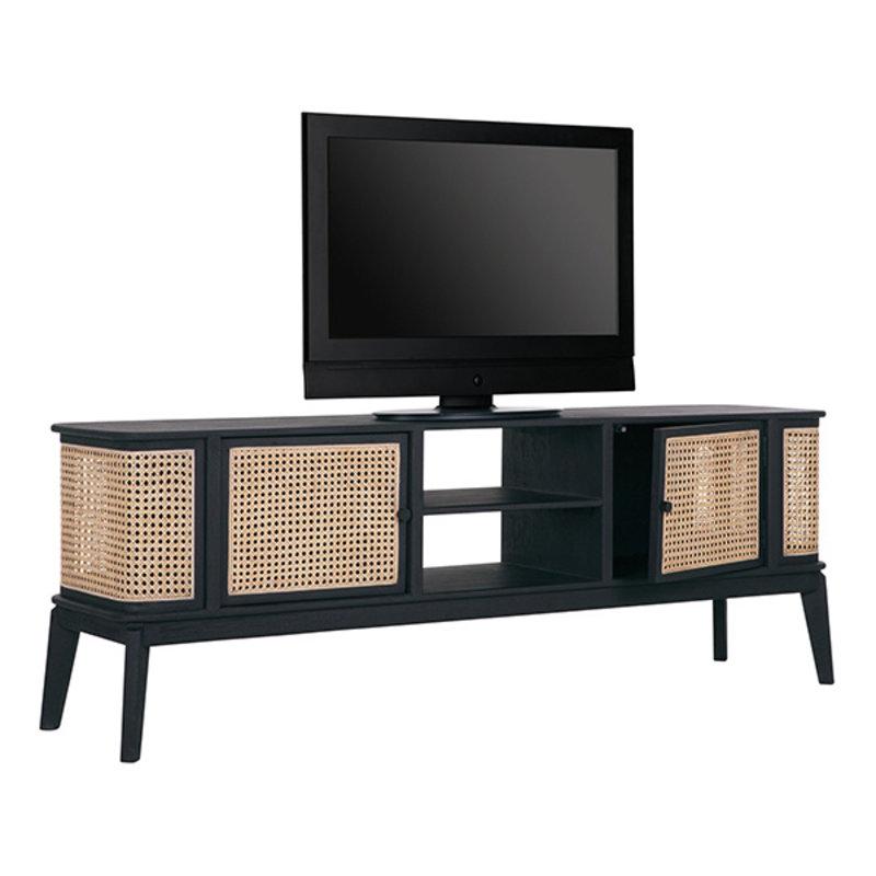 MUST Living-collectie TV stand Raffles small, 2 doors, 2 open racks
