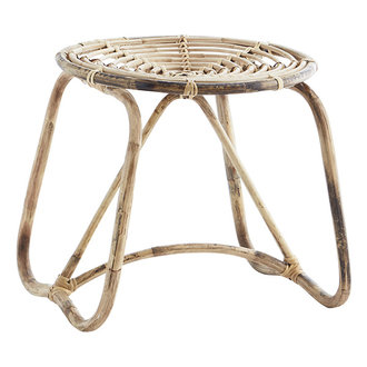 Madam Stoltz Bamboo stool Natural D:49x45 cm