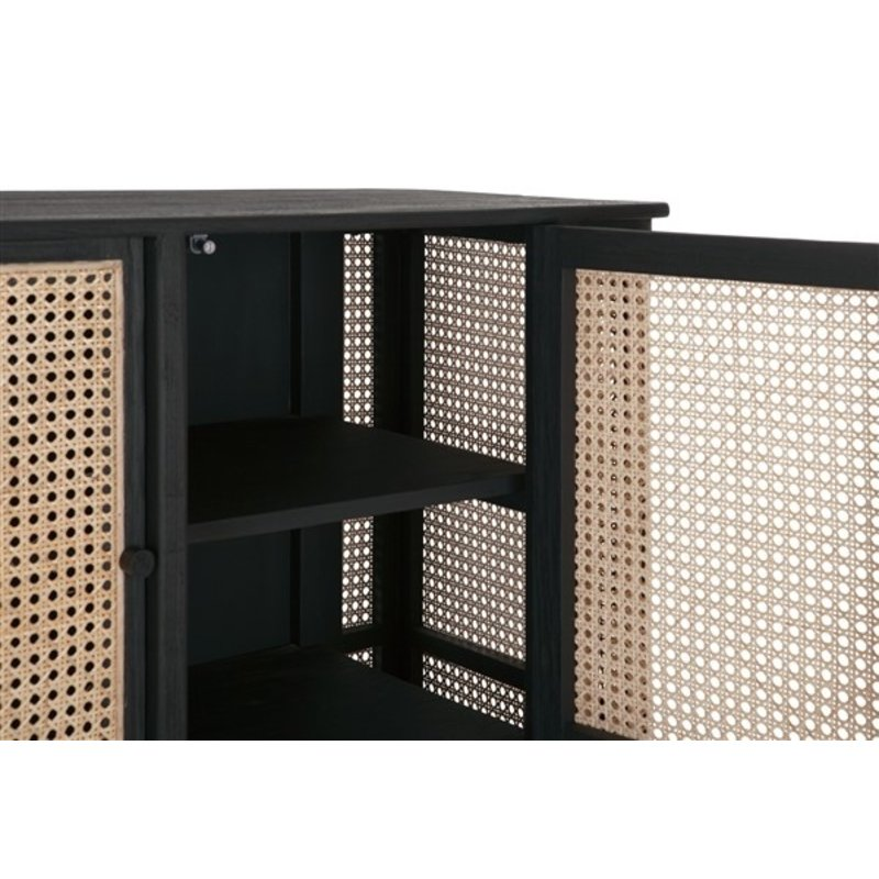 MUST Living-collectie TV stand Raffles large, 2 doors, 4 open racks