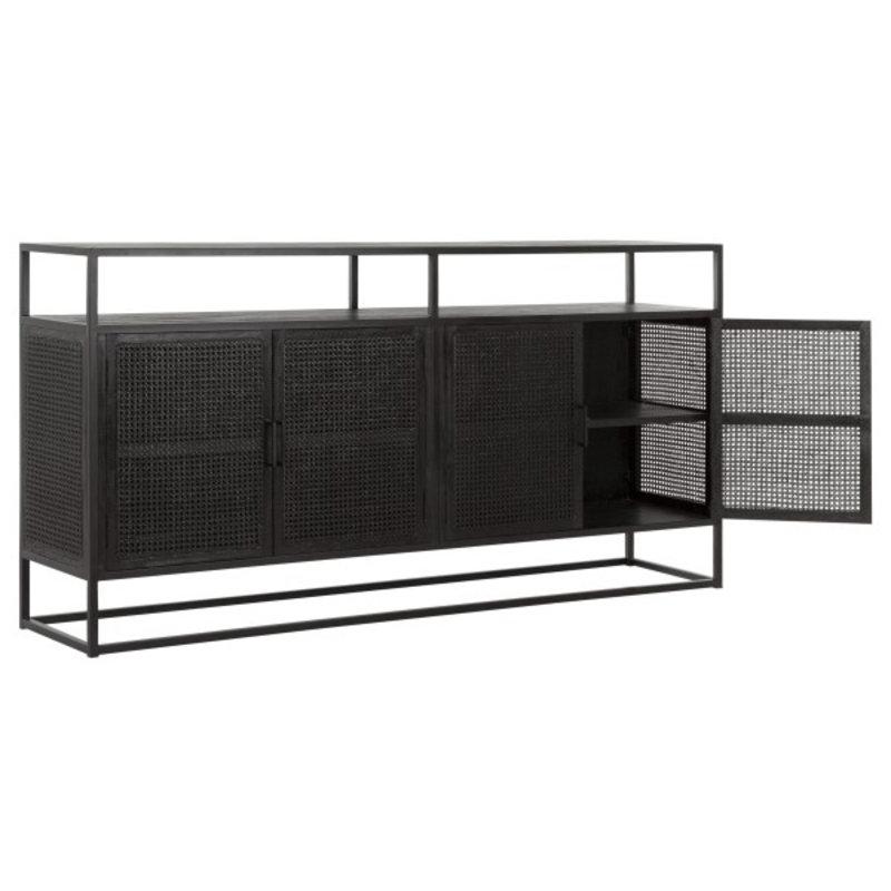MUST Living-collectie Dressoir zwart webbing 4-deurs