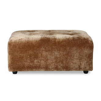 HKliving vint couch: element hocker, corduroy velvet, aged gold