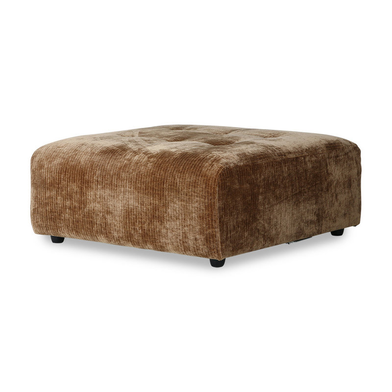 HKliving-collectie vint couch: element hocker, corduroy velvet, aged gold