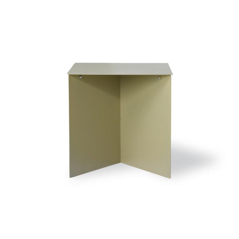 HKliving-collectie Metalen bijzettafel rechthoek olive