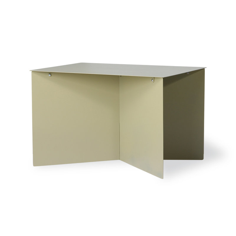 HKliving-collectie metal side table rectangular olive