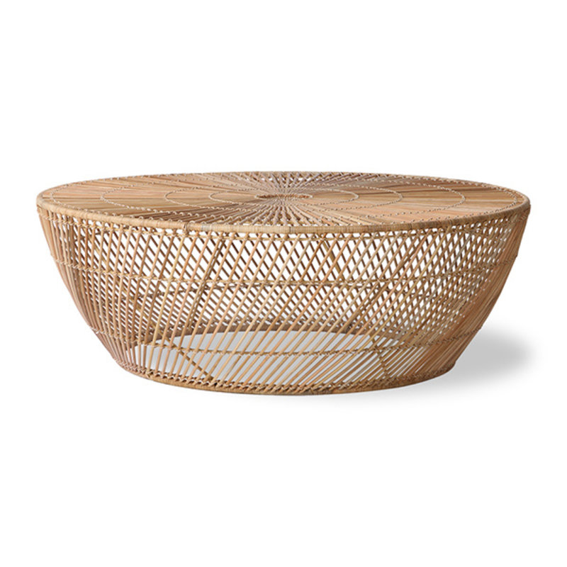 HKliving-collectie wicker coffee table