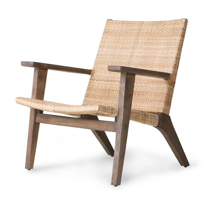 HKliving-collectie Lounge stoel gevlochten  rotan
