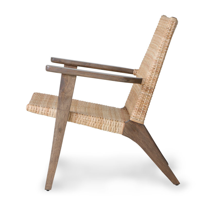 HKliving-collectie woven lounge chair