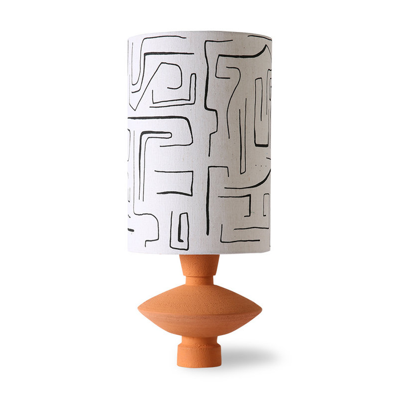 HKliving-collectie stoneware lamp base terra