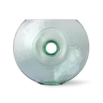 HKliving Glass circle vase