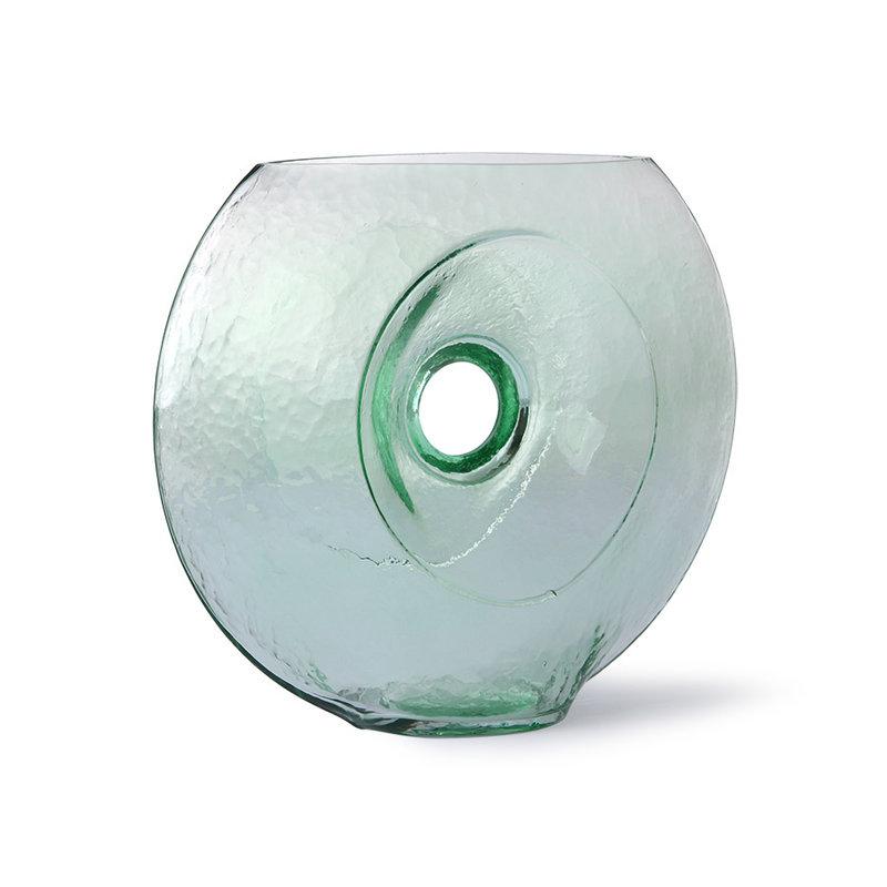 HKliving-collectie Glazen cirkelvaas