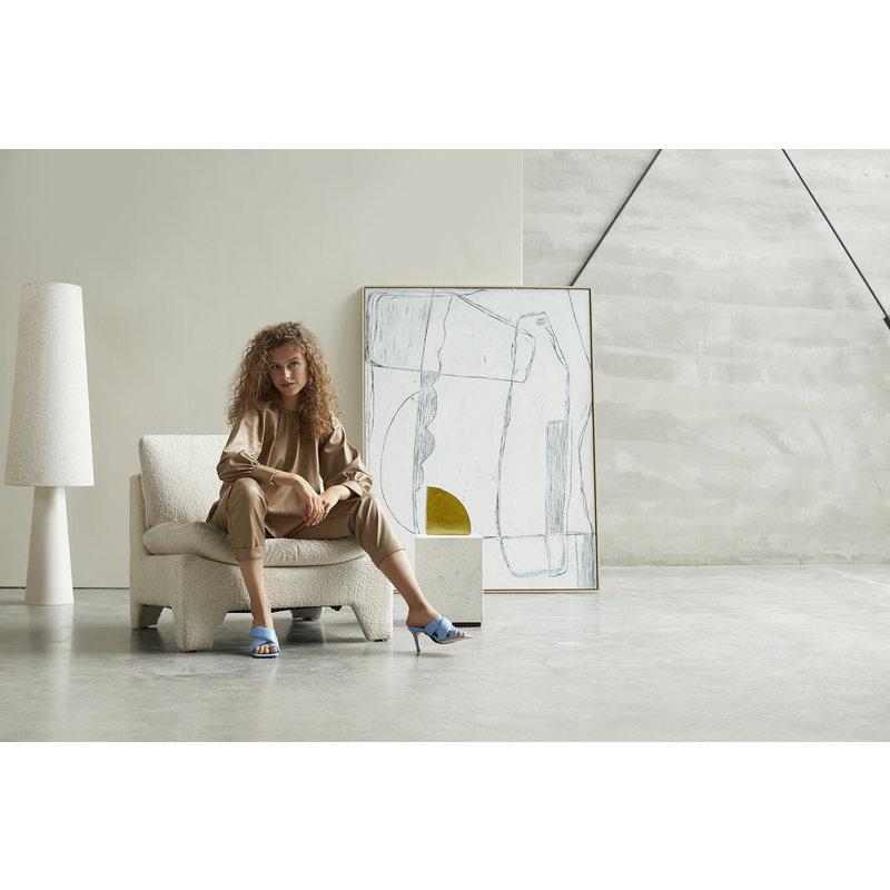 HKliving-collectie Ingelijst schilderij Brutalism wit 120x160cm
