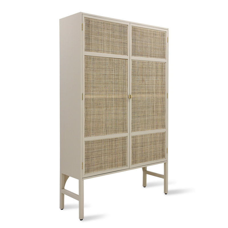 HKliving-collectie Retro webbing clothing cabinet sand