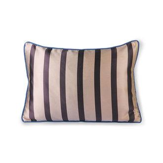 HKliving satin/velvet cushion bown/taupe (35x50)