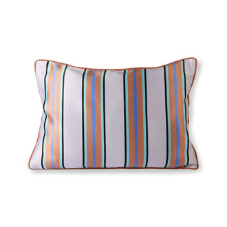 HKliving satin/velvet cushion orange/blue (35x50)