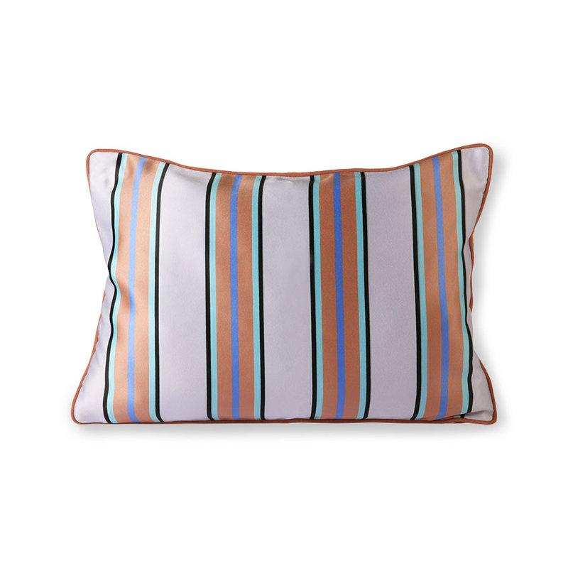 HKliving-collectie satin/velvet cushion orange/blue (35x50)