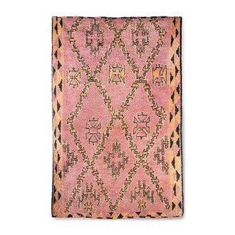 HKliving hand knotted woolen berber rug terra/orange (180x280)