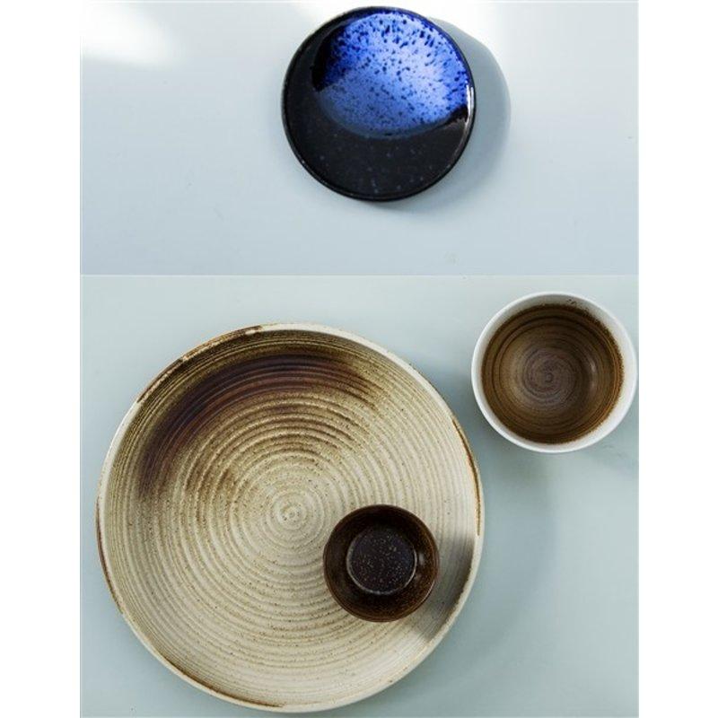 HKliving-collectie Keramieke bord creme bruin