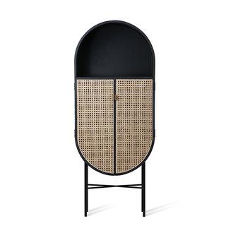 HKliving retro oval cabinet black