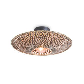 Good&Mojo Ceiling lamp Bali dia.44x12cm black/natural, S