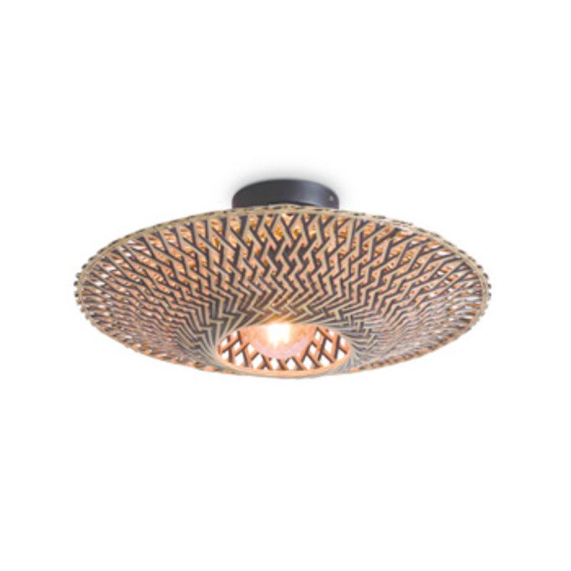 Good&Mojo-collectie Ceiling lamp Bali dia.44x12cm black/natural, S