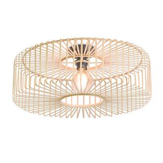 Good&Mojo Ceiling lamp Bromo round dia.60x18cm natural, L