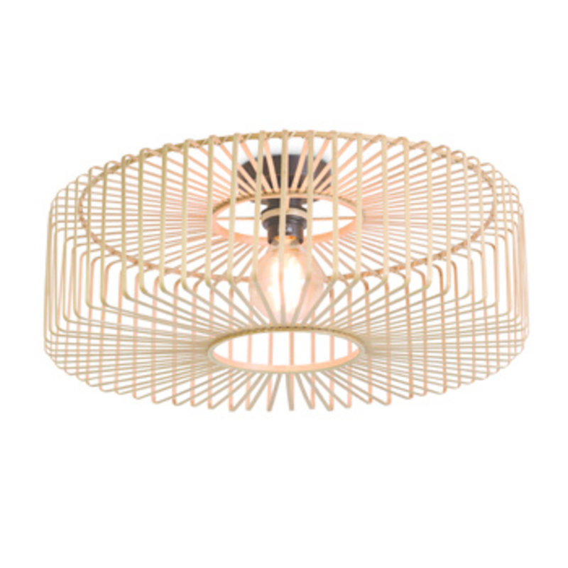 Good&Mojo-collectie Ceiling lamp Bromo round dia.60x18cm natural, L