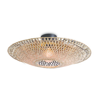 Good&Mojo Ceiling lamp Kalimantan dia.44x12cm bl./nat. S