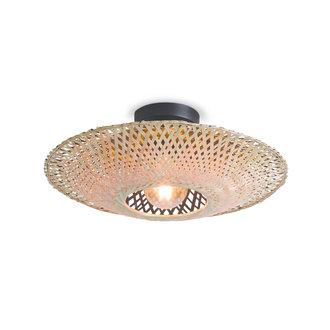 Good&Mojo Ceiling lamp Kalimantan dia.60x15cm black/natural, M
