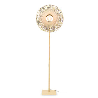 Good&Mojo Floor lamp Kalimantan  nat./shade vertic. 60x15cm b/n, M
